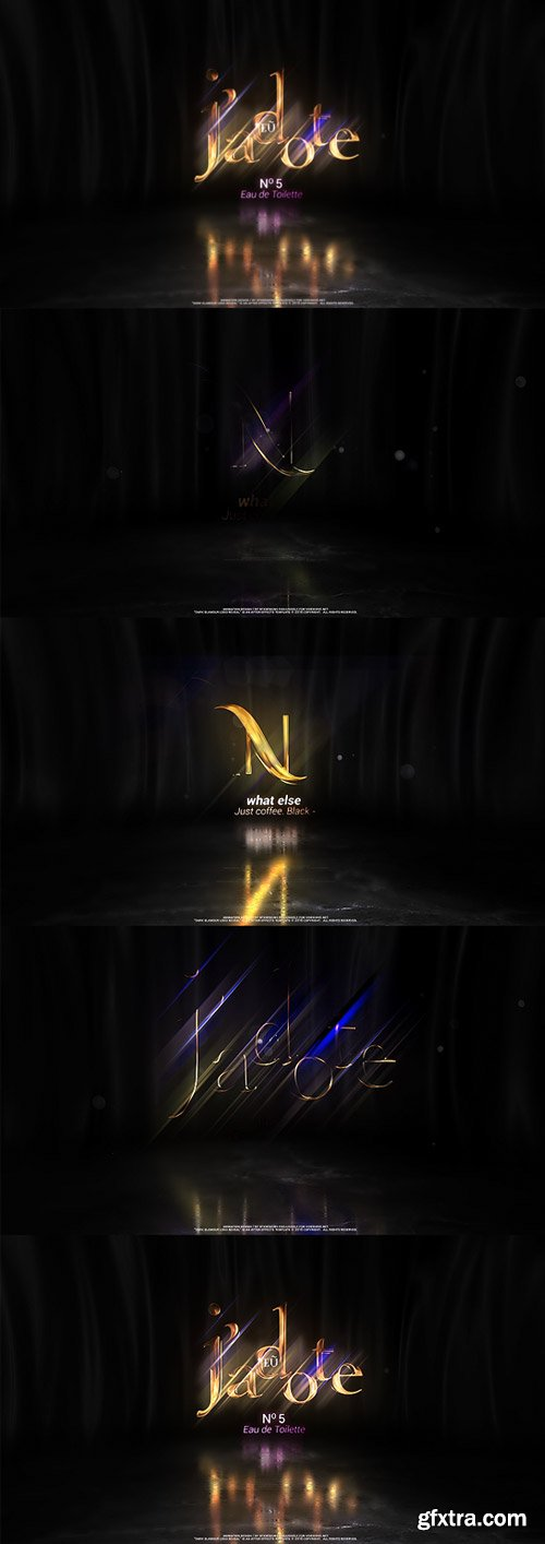 Videohive - Dark Glamour Logo Reveal - 21915763