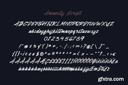 Amnesty - 4 Fonts
