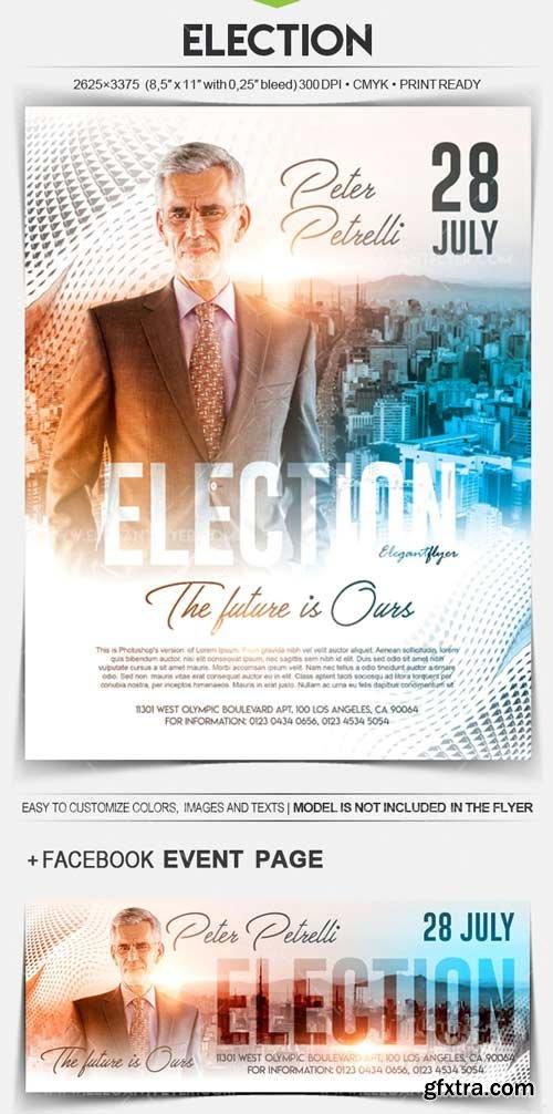 Election V1 2018 Flyer PSD Template