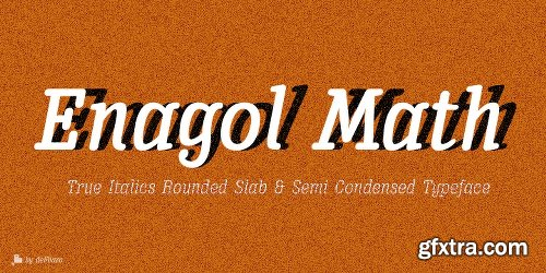 Enagol Math Font Family - 8 Fonts
