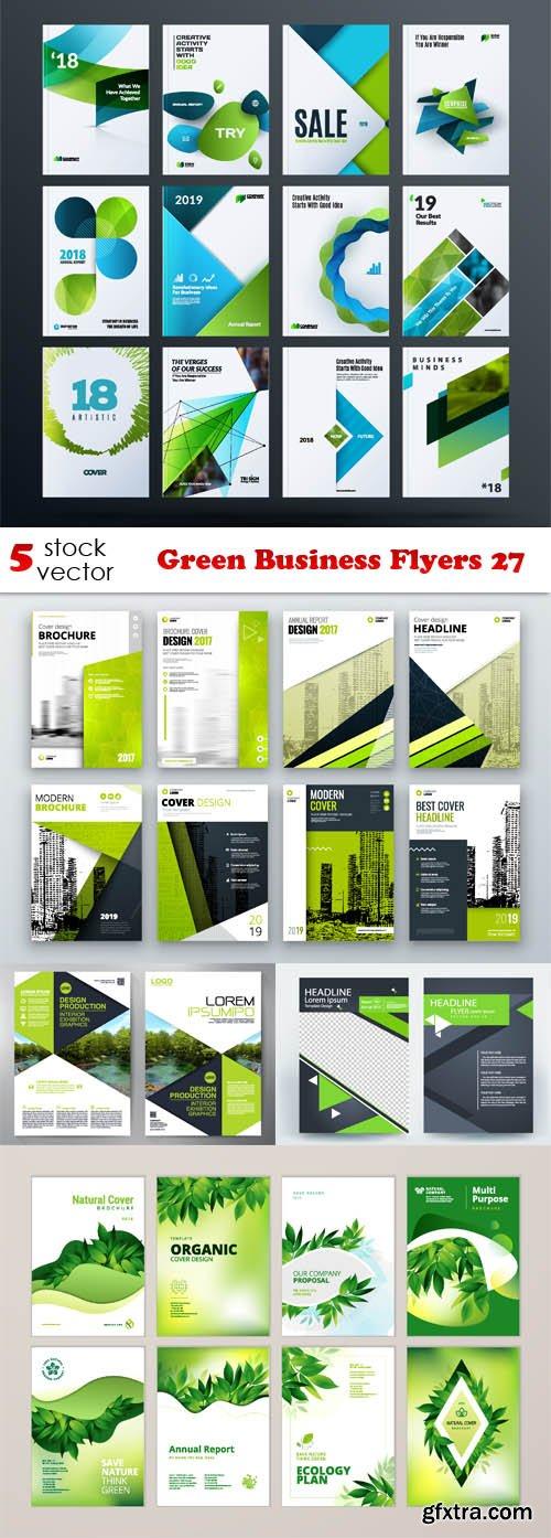 Vectors - Green Business Flyers 27