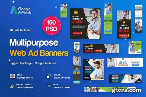 Multipurpose, Business Banners Ad - 150 PSD