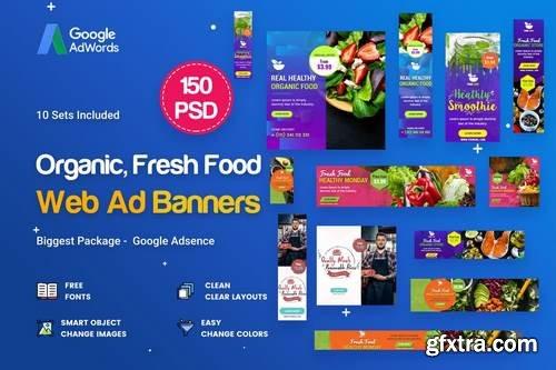 Organic, Fresh Food Banners Ad - 150 PSD