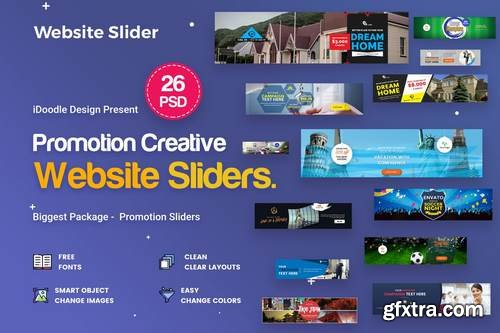 Promotion Sliders - 26 PSD