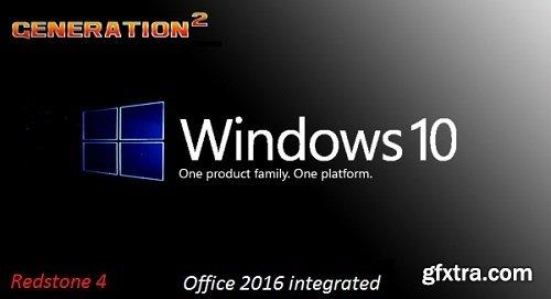 Windows 10 Pro X64 RS4 1803 Build 17134.165 incl Office 2016 en-US July 2018