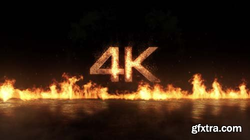 Videohive - Fly-In Fire Logo - 15628041