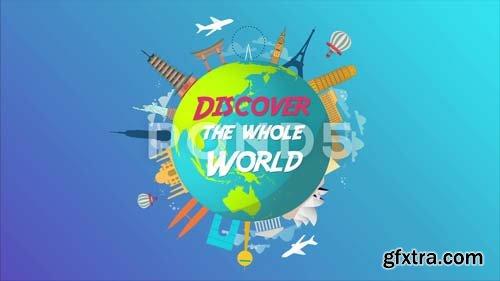 Pond5 - World Travel Logo Animation - 079871459