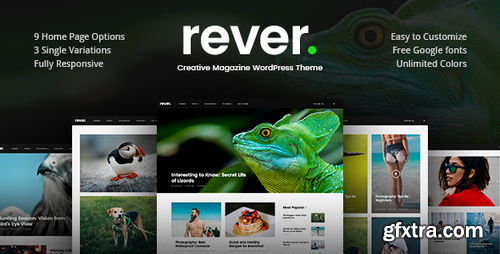 ThemeForest - Rever - Clean and Simple WordPress Theme v1.0.2 - 20364650