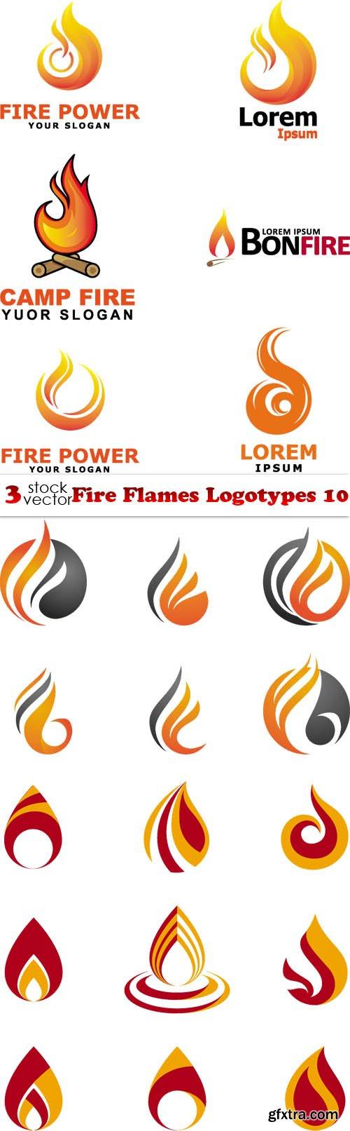 Vectors - Fire Flames Logotypes 10