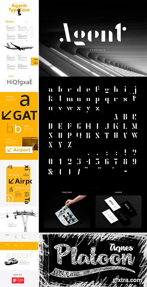 Agane, Agent, Agnes fonts Bundle