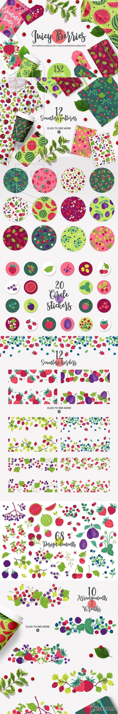 CreativeMarket - Juicy Berries Kit 2767403
