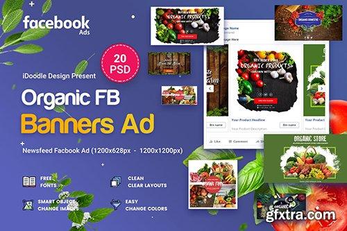 Organic Facebook Ads - 20 PSD