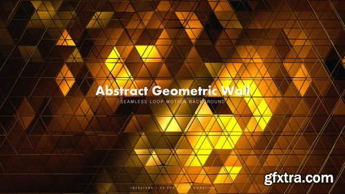 Videohive Abstract Geometric Wall 2 21434323