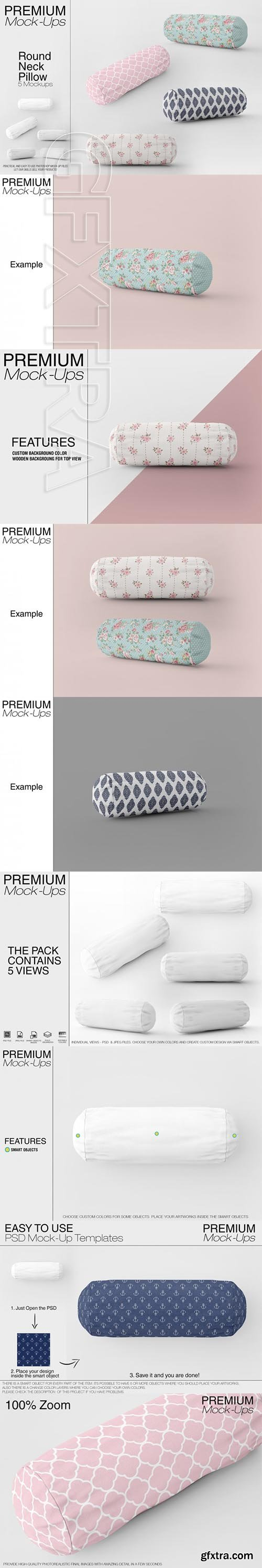 Round Neck Pillow Mockup Pack