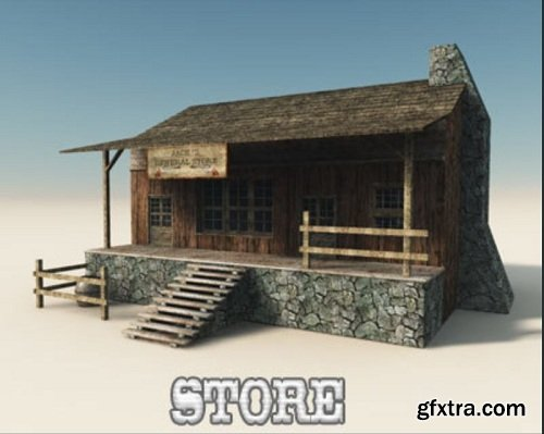 Western town 3d Models