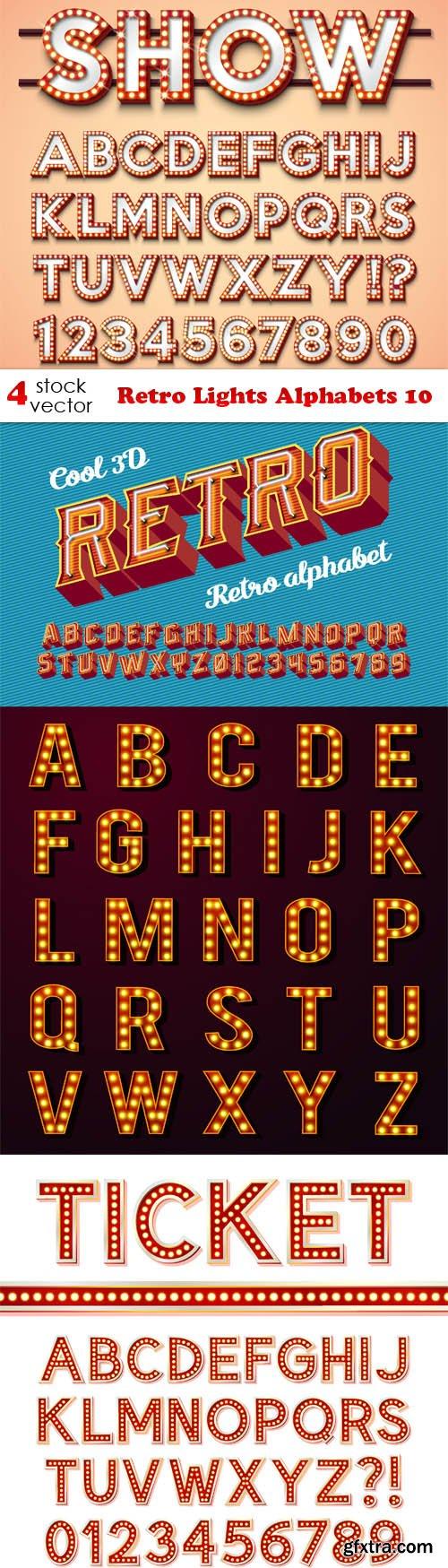 Vectors - Retro Lights Alphabets 10