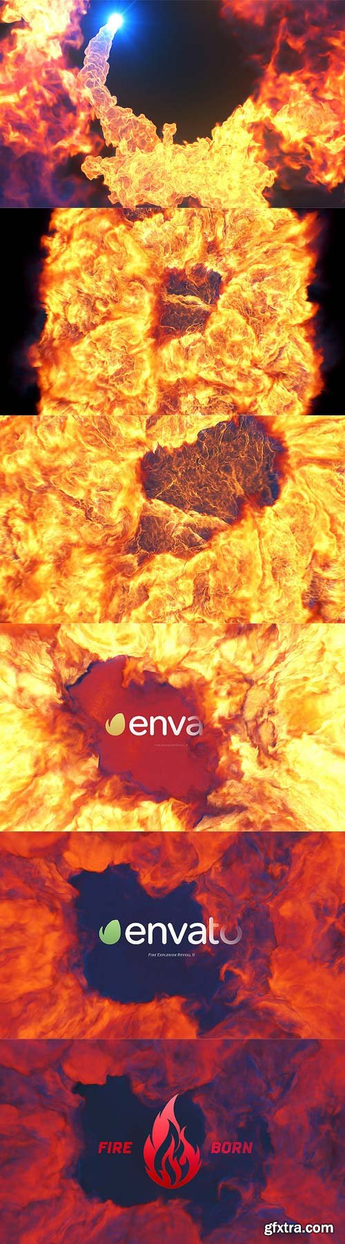 Videohive - Fire Explosion Logo Reveal II - 12493184