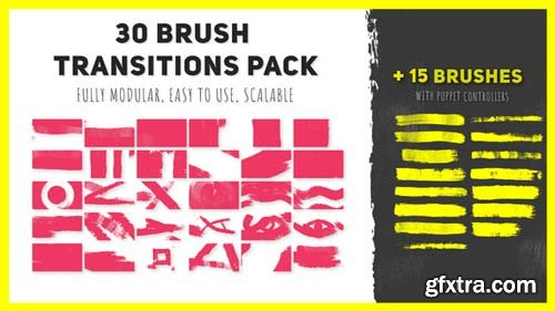 Videohive - 30 Brush Transitions Pack - 21940411