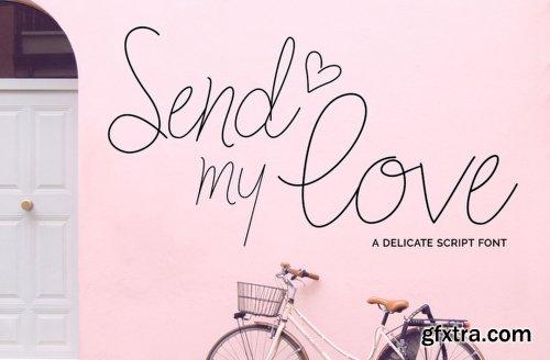 Send My Love Font