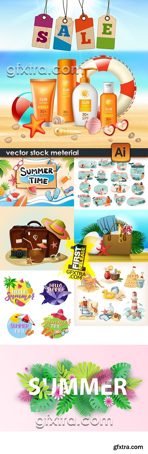 Summer holiday by sea and beach accessories 7