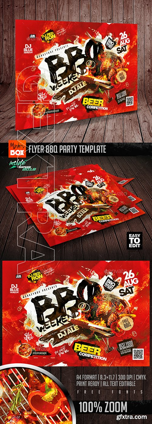 Flyer BBQ Party Template 22292178