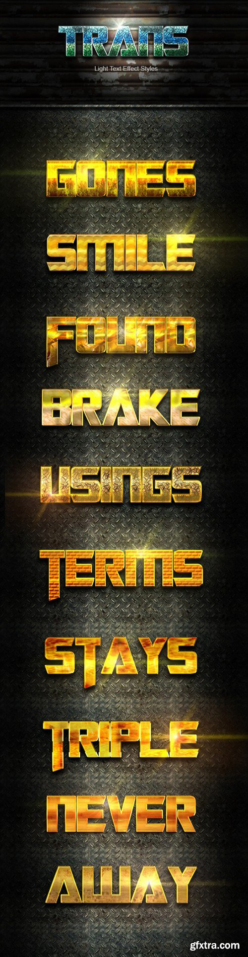 Graphicriver - 22140301 10 photoshop trans gold styles effect vol 41