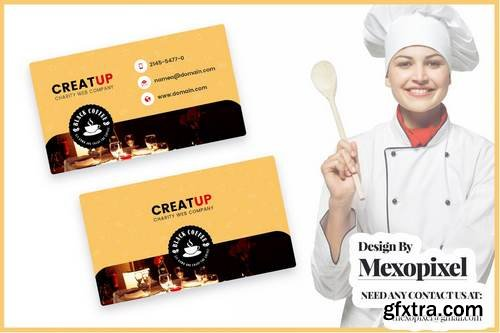 Food Chef Business Cards Template