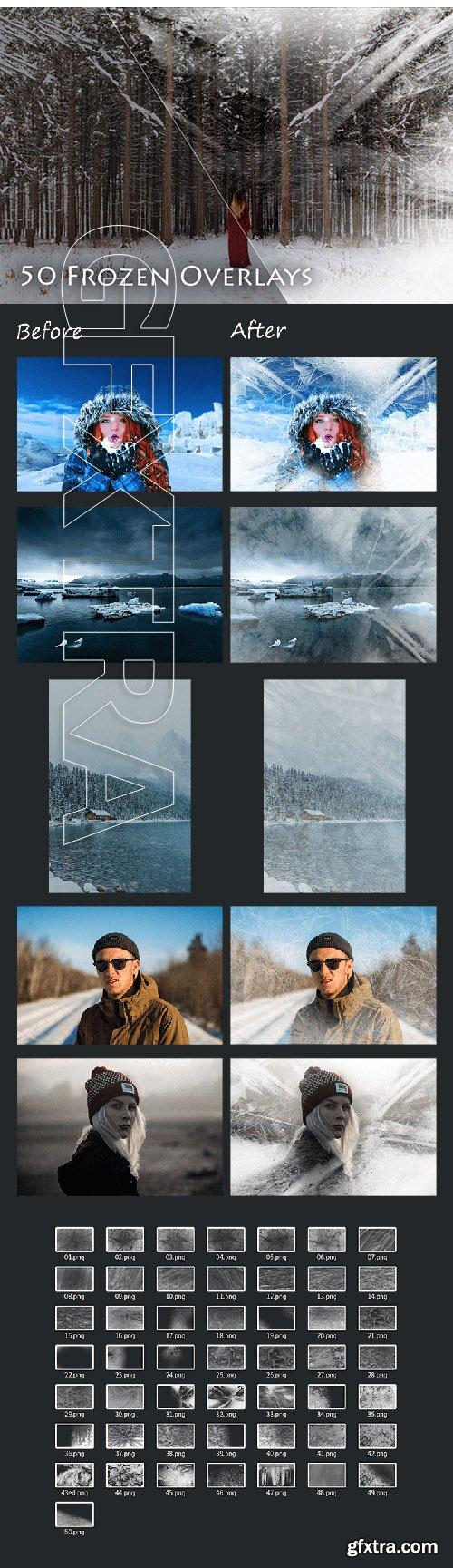 50 Frozen Photo Overlays