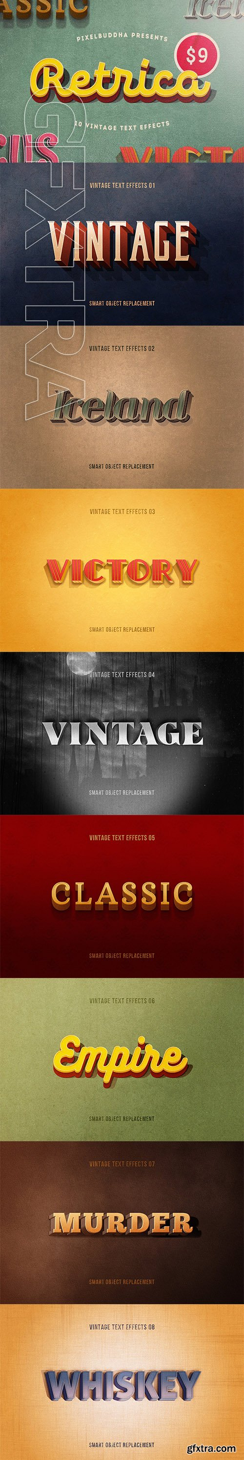 CreativeMarket - Retrica Vintage Text Effects Pack 2719608