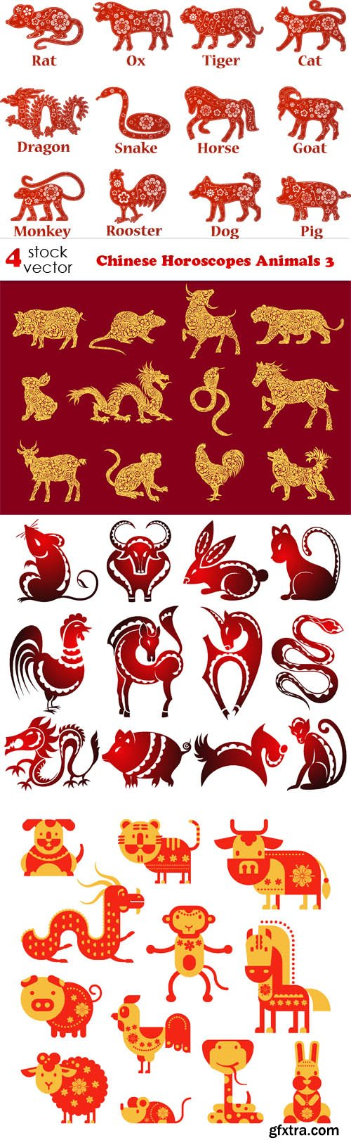 Vectors - Chinese Horoscopes Animals 3