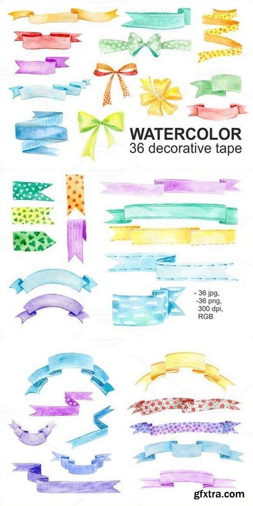 Watercolor 36 decorative tape