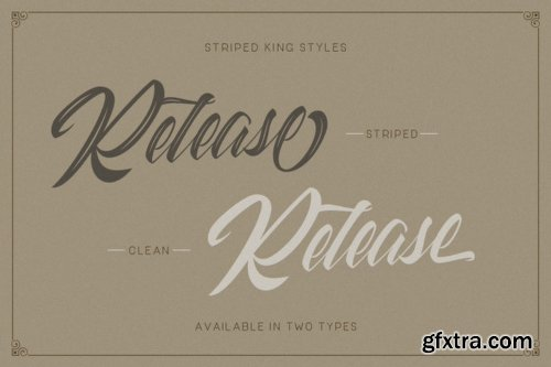 Striped King - 4 Fonts
