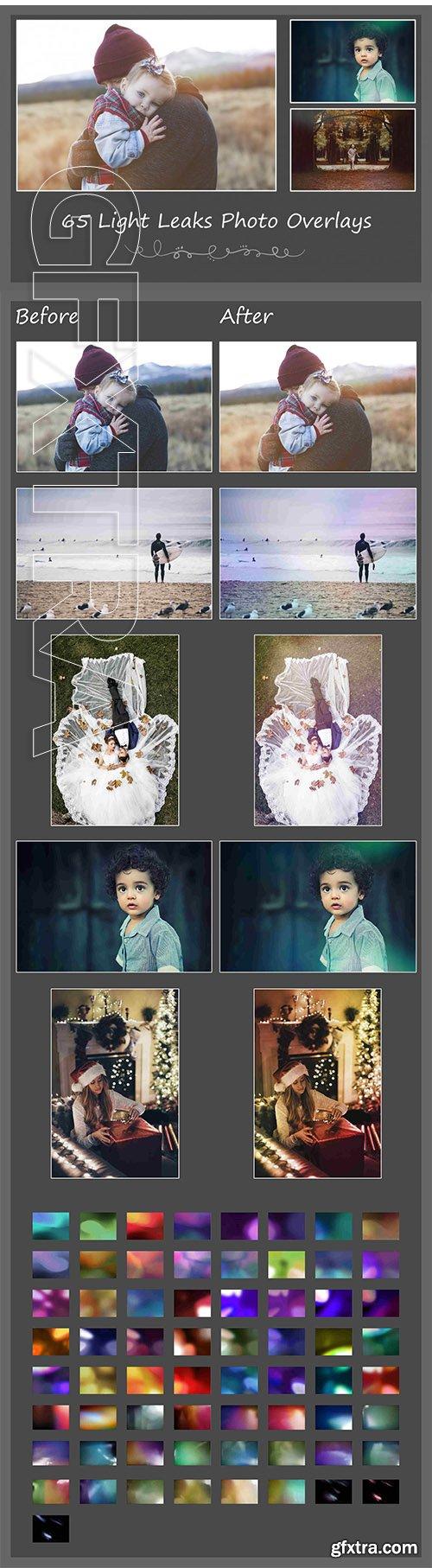 65 Light Leaks Photo Overlays