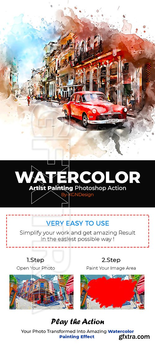 GraphicRiver - Watercolor Artist Painting Photoshop Action 22294640