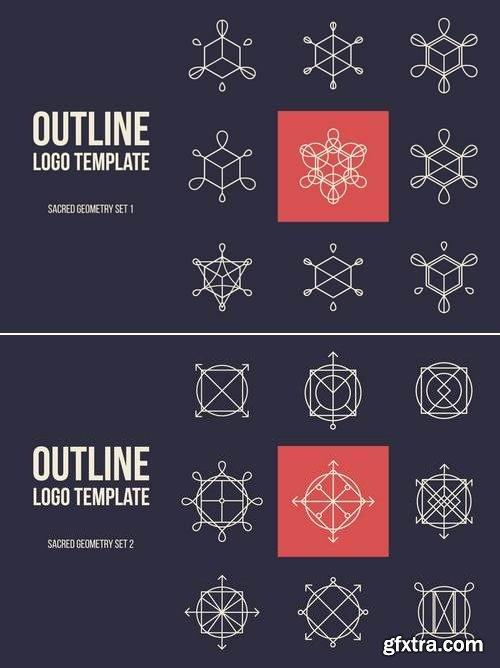 Outline Logo Template Set 1&2