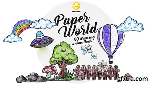 Videohive Paper World (Over 60 Drawing Animations) 11042907