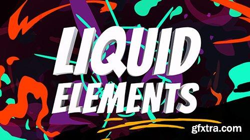 Videohive Liquid Elements 21652283