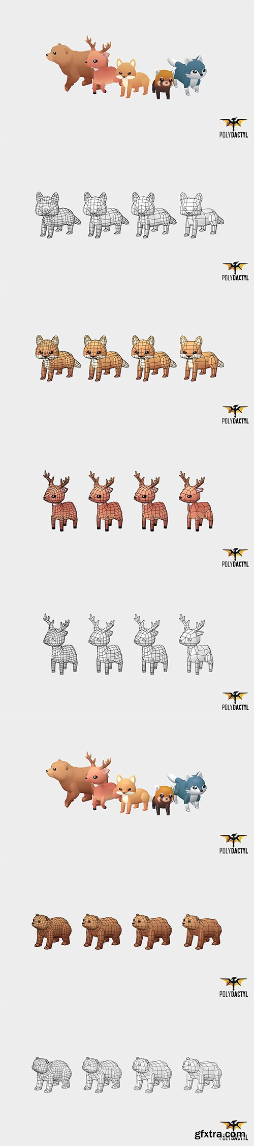 Cuberbrush - Forest Animals - Wild Series
