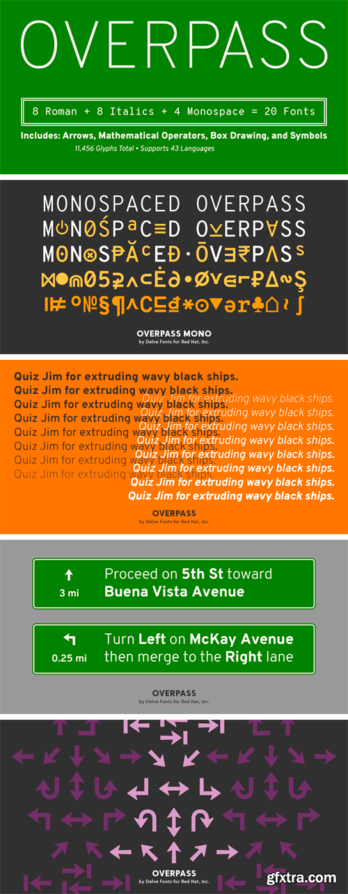 Overpass Font Family