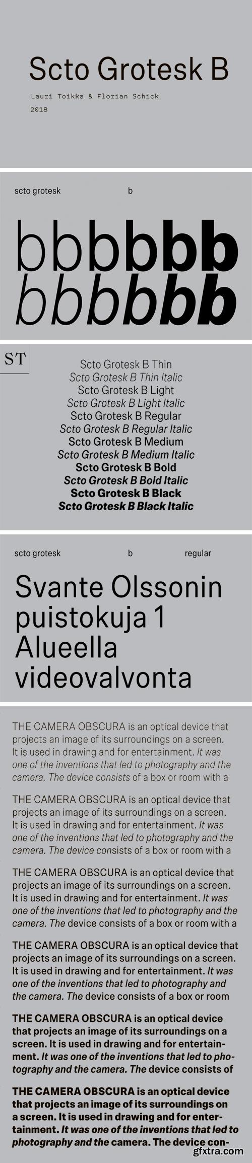 Scto Grotesk B Font Family