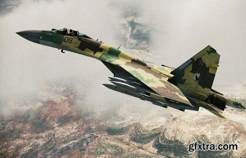 Sukhoi Su-35 Aircraft 3d Model