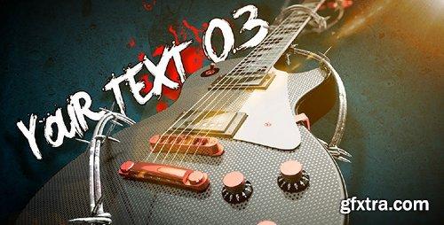 Videohive Rock Guitar Text Opener 3735860
