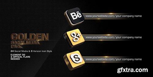 Videohive Golden Social Media Pack 4589950