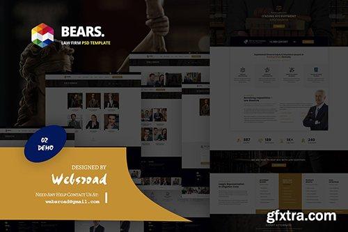 Bear's - Law Firm PSD Template