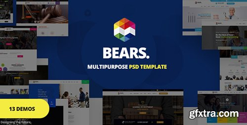 ThemeForest - Bear's - Multi-Purpose Business PSD Template 21049631