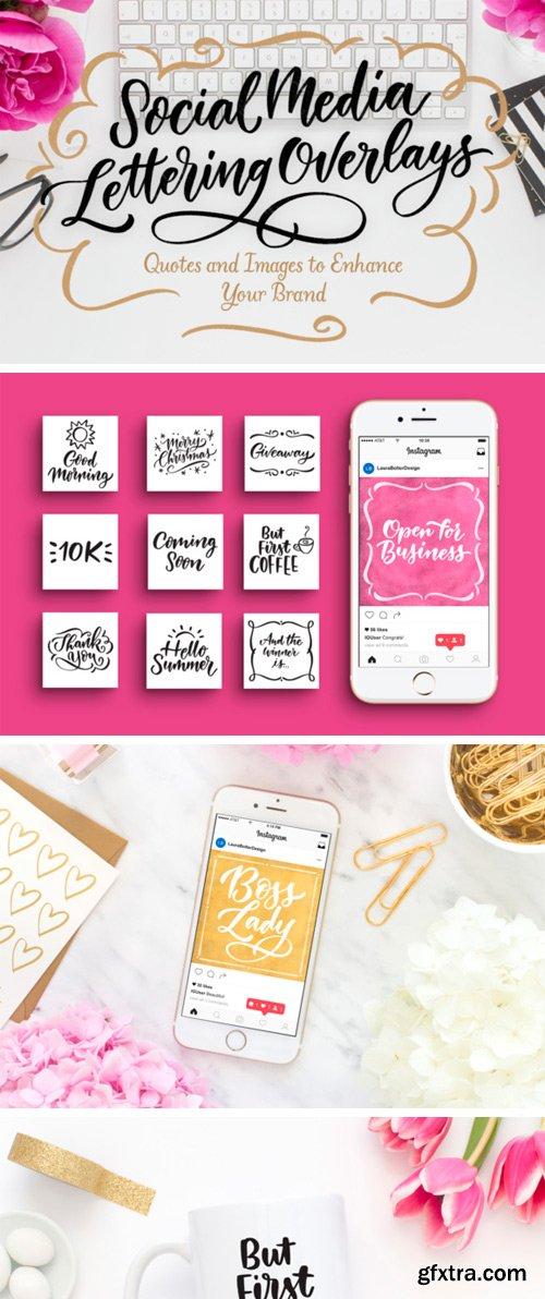 Creativefabrica - Social Media Lettering Overlays