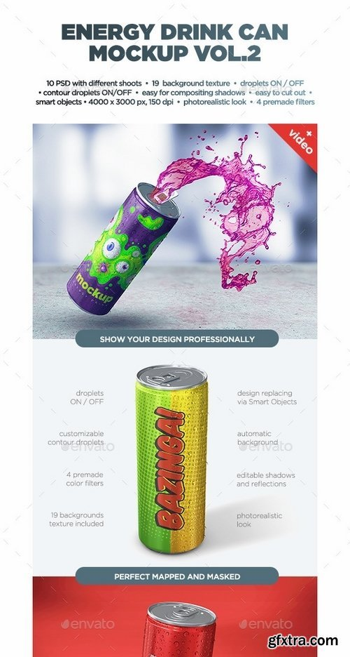 GraphicRiver - Energy Drink Can Mockup vol2 13867675