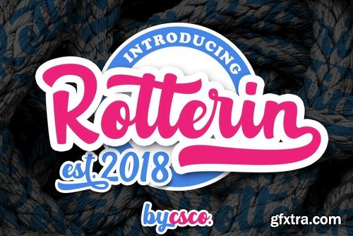 Rotterin Font Family - 2 Fonts
