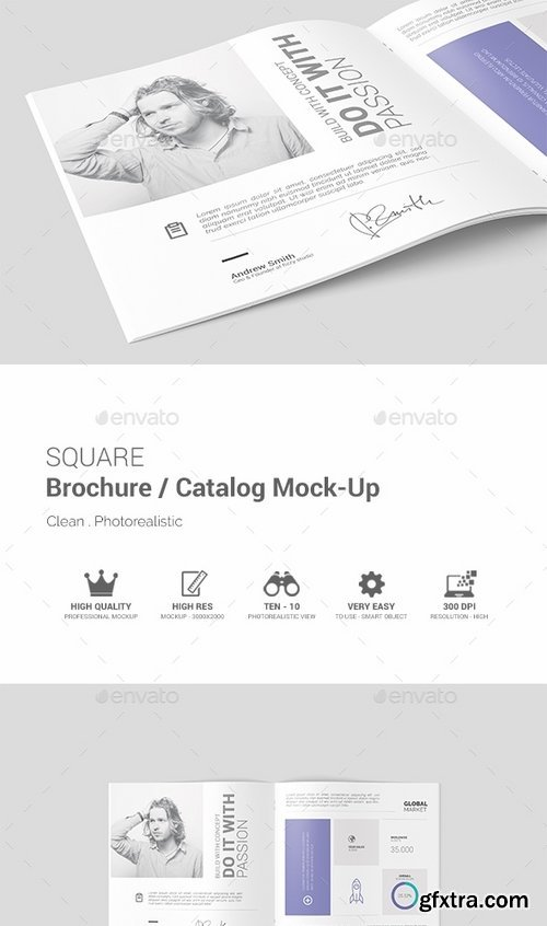 GraphicRiver - Square Brochure Catalog Mock-Up 19416453
