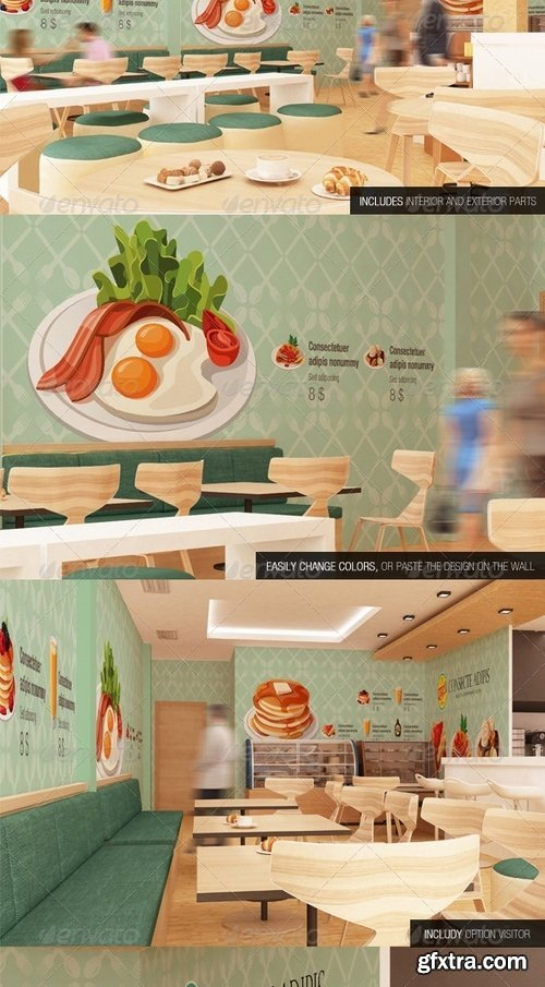 GraphicRiver - The Mockup Branding For Fast Food Outlets by 740848